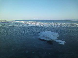 流氷に潜る